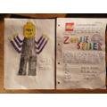 Jemima's Zombie Spider lego figure and advert!