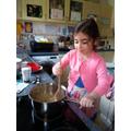 Making honeycomb