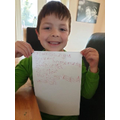 Super writing Charlie