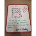 Jemima's Maths work with dad!