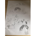 Drawing of mountains
