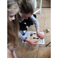 Charlotte and Isobel made a telephone