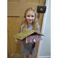 Charlotte made a Viking Longhouse