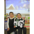 We created collage pictures to show 'a blanket of snow'!