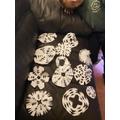 Jack and Eva's snowflakes