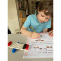 Jake's Lego balance scales