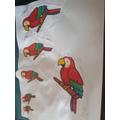 Thea's parrots