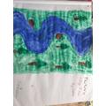 Callum's river painting