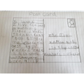 Abigail's postcard