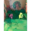 Eden's dinosaur toilet roll creation!