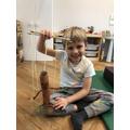 A super Stick man puppet.