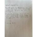 Jake's handwriting practice
