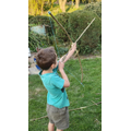 Thomas made a bow and arrow