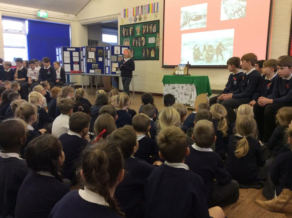 'Hawthorns' (Year 6) led our service.