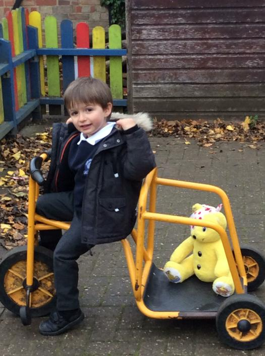 Pudsey joined in the fun too!