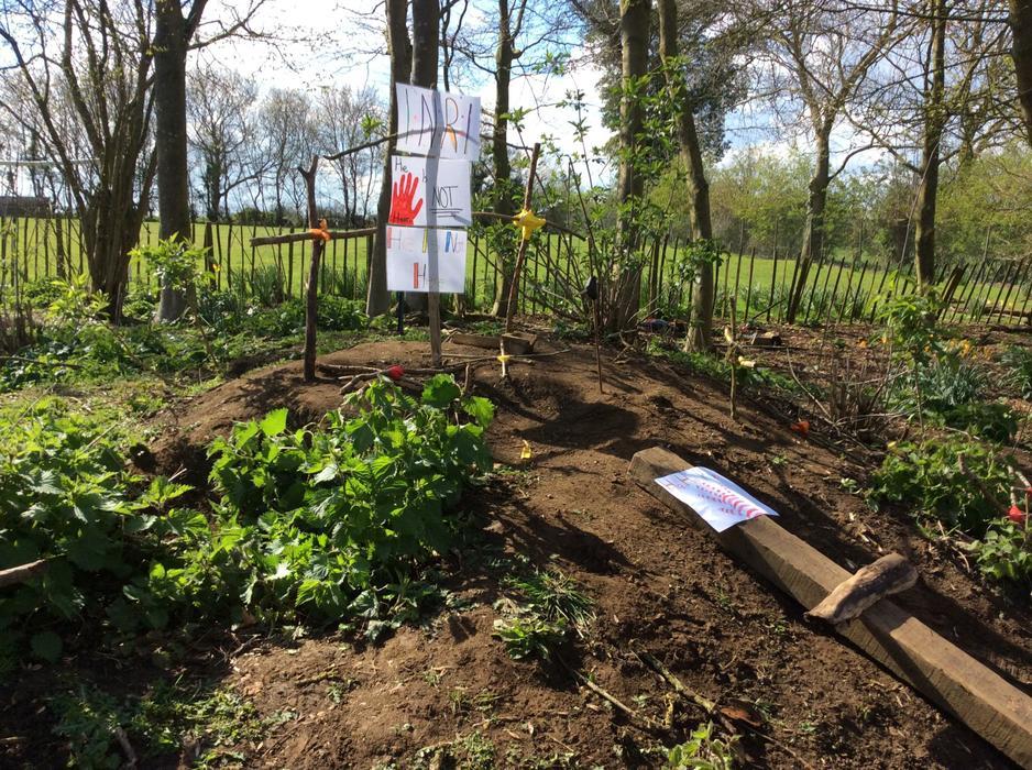 Hawthorns created Easter Sunday - the resurrection