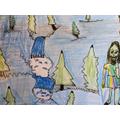 Rousseau inspired portrait-landscape