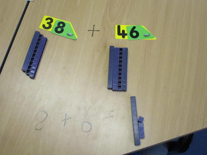We use base 10 to partition each number.