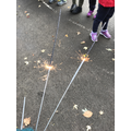 We had fun looking at sparklers before we wrote our poems