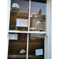 Some of Eagle Owls' rainbows in my front window