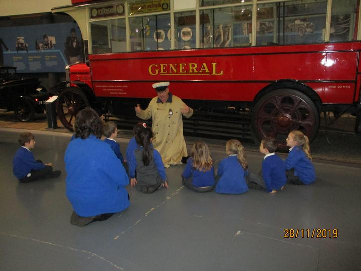 We enjoyed learning all about the 90 year old bus.