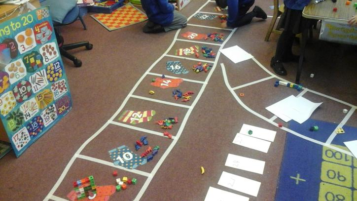 Representing numbers with cards and objects