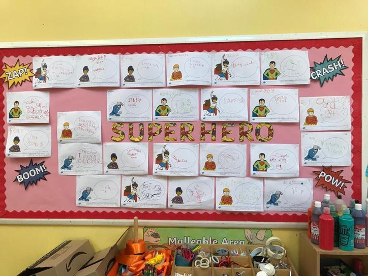 We did some brilliant writing about our superhero powers!