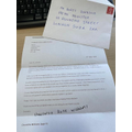 A letter to Boris Johnson from Charlotte!!