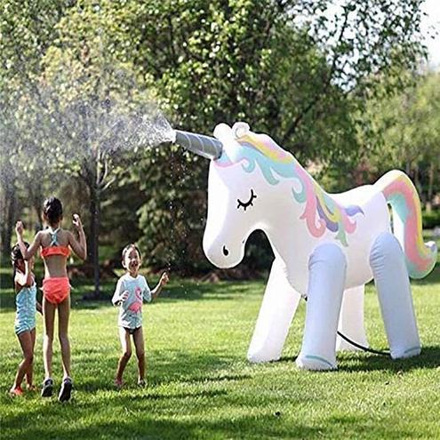Our new 6' unicorn sprinkler!