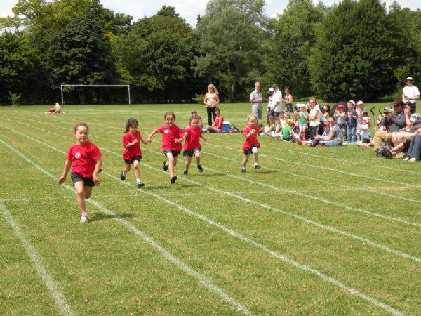 Sprint races starting with the Reception children