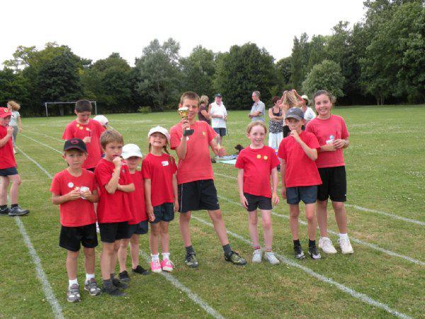 The Foxes family group won the sports trophy