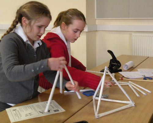 Then 3D shapes were made from the triangles.