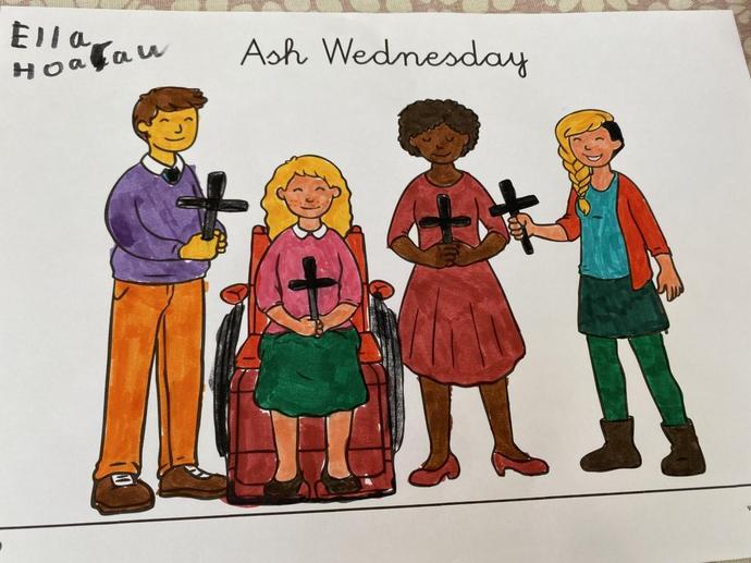 Ella's Ash Wednesday Colouring