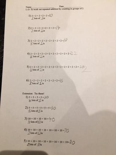 Adit's Repeated Addition Work