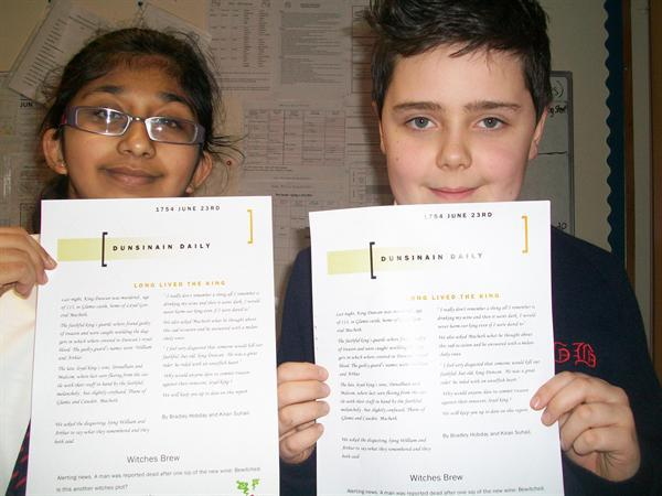 Bradley and Kiran - Year 6