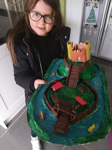 Heidi built an amazing Motte and Bailey castle