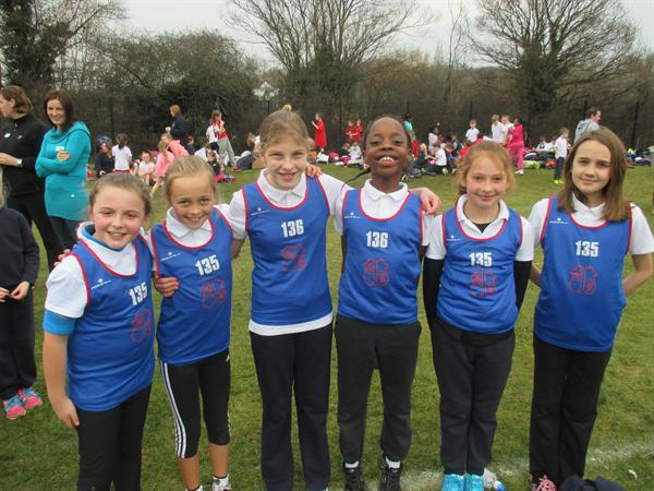Year 5 Girls, District Cross Country - Runners Up