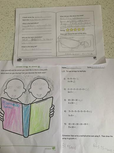 Gracie's World Book Day and Maths Work
