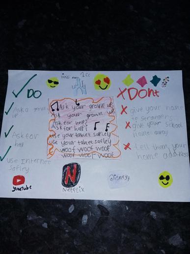 Heidi's Online Safety poster