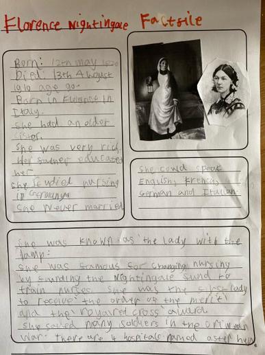 Evie's Florence Nightingale Fact File