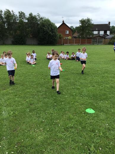 We enjoyed the egg and spoon race too!