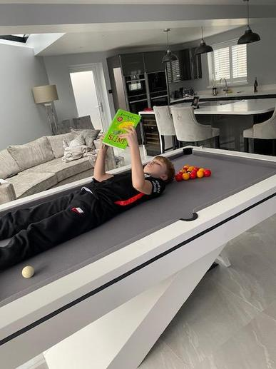 On a pool table