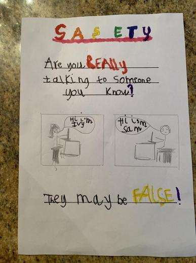 Ivy's Online Safety Poster
