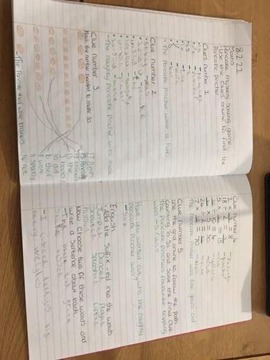 Jack's Maths and English Work