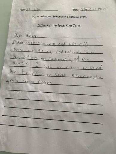 Gracie's Diary Entry