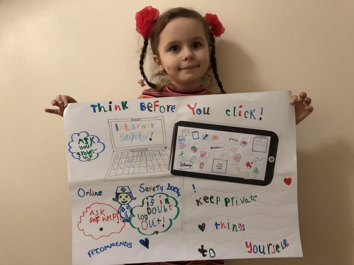 Sophia's Online Safety Poster