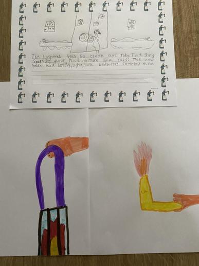 Ella's Florence Nightingale Lamp and Writing