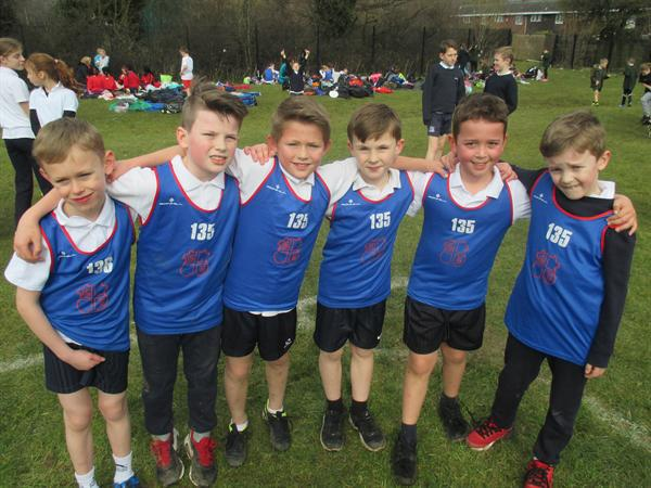 Year 3 Boys, District Cross Country - Runners Up