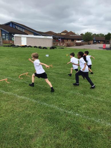 We enjoyed using the hurdles!