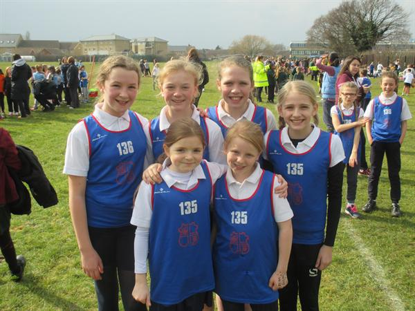 Year 6 Girls, District Cross Country - Runners up